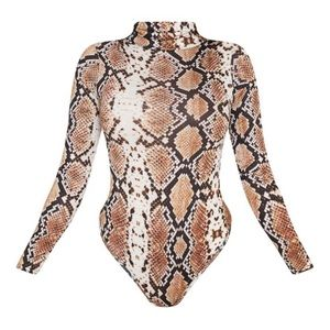Pretty little thing snake print body suit